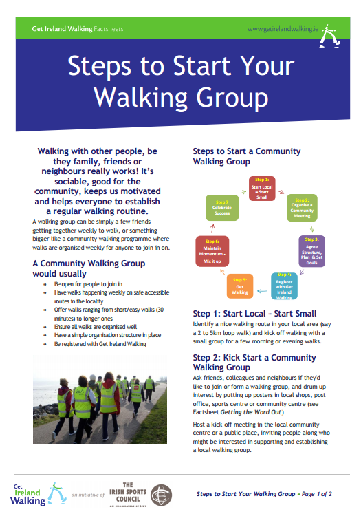 Steps to Start Your Walking Group Screenshot
